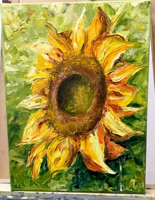 Slunečnice - olejomalba 30х40 см