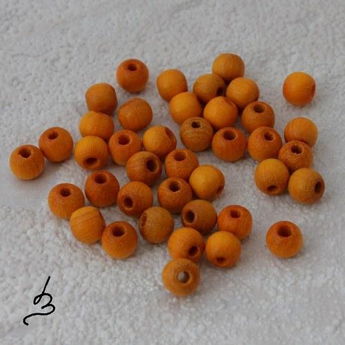Dřevěné SV oranžové pr. 5 mm - bal. 40 ks