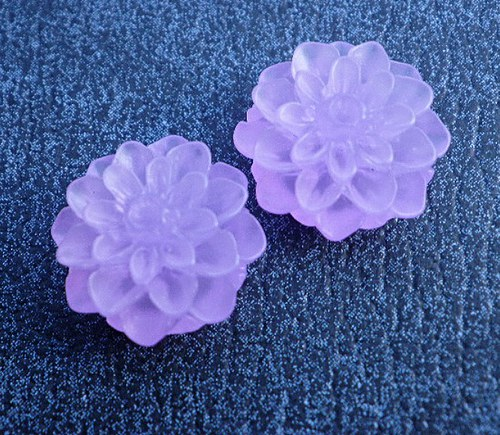 Kabošon chryzantéma,  fialový  - 2ks