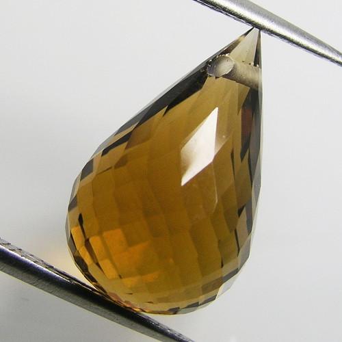Syntetický citrín, 13,37 ct., 18,5x11,4x11,4 mm