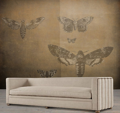 Luxusní vliesová tapeta ,,Vintage style - Moths,,