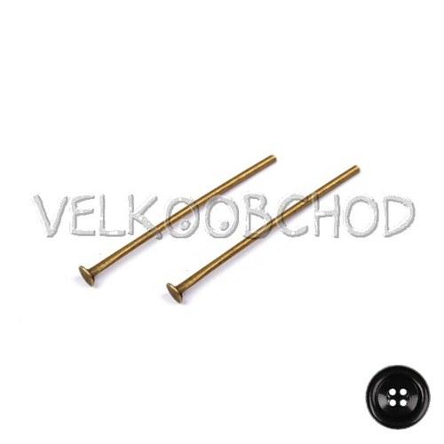 Ketlovací nýty 30 mm (250 ks) - staromosaz