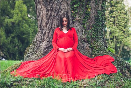 Těhotenské šaty na focení Gaia