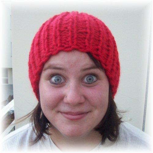 Pletená narážečka - červená