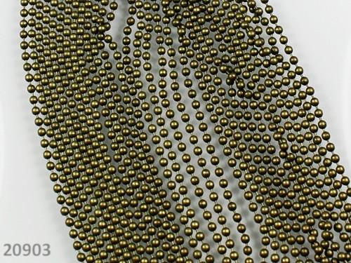 20903 Řetízek kuličkový BRONZOVÝ,  á 1metr