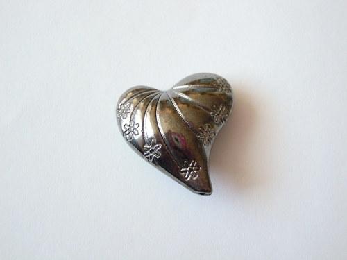 Bižuterní komponent srdce 1ks