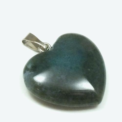 přívěsek srdce - minerál č.6, průměr 21 mm,