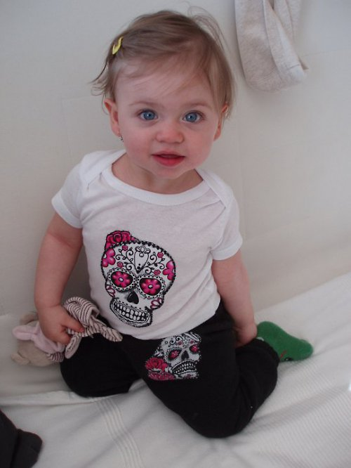 Sugar skull baby bodíčko