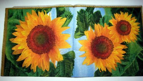 Ubrousek - slunečnice