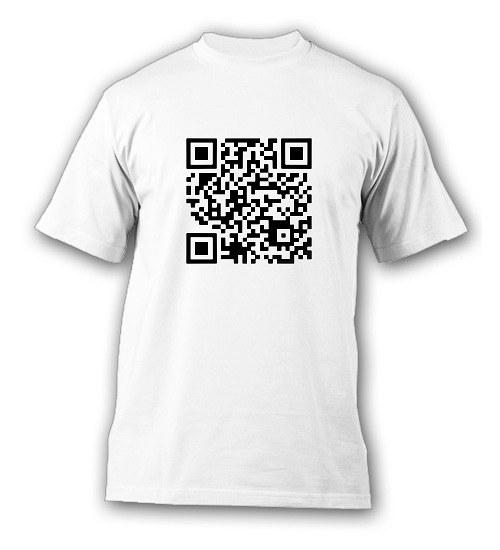 Vlastní QR kód - tričko s potiskem