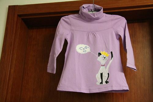Dětský rolák tričko s kočkou