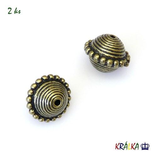 Akrylový korálek kulička zdobená