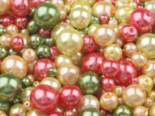 Voskované perly 4-12mm kulička MIX (30g)