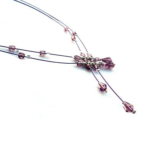 Fialový deštík - náhrdelník