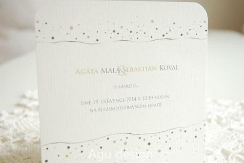 Tečkované - svatební oznámení