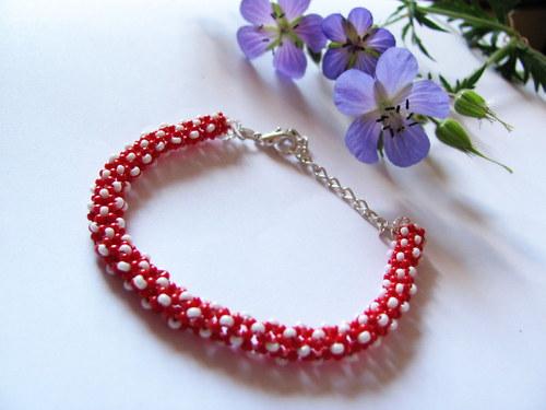 Spiral red & white