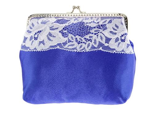 Dámská kabelka krajková modrá svatební Z1