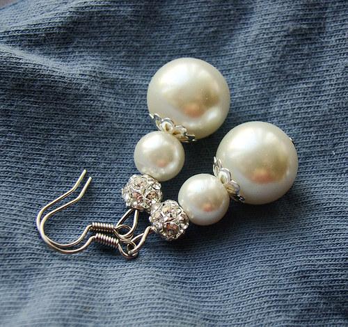 náušnice perličky a šaton