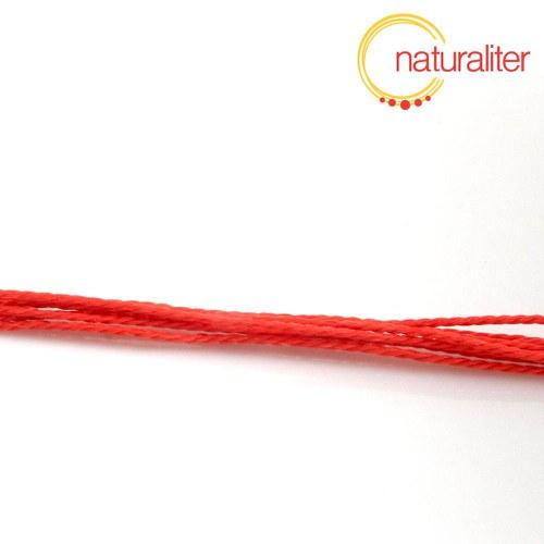 Voskovaná šňůra zapletená červená 1 mm, 5 m