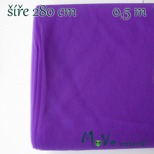 svatební tyl jemný fialový 50 cm/ š280 cm