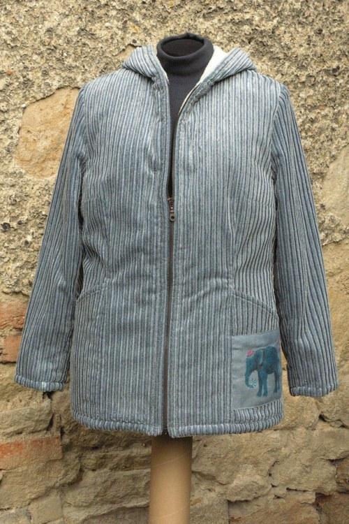SLEVA z 1650Kč -Kabátek džínové barvy - Slon