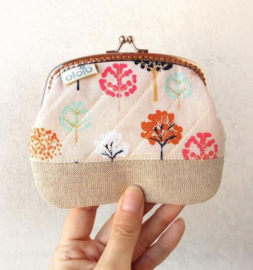 Peněženka XL Malé stromy