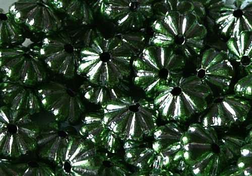 Plastová rondelka 6 x 4 mm - zelená / 10 ks