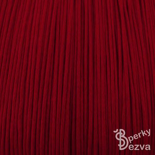 Červená bavlněná voskovaná šňůrka, 5 m