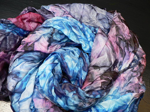 Šál fialkovo-modrý, 160x90 cm