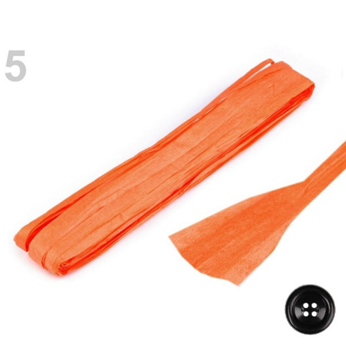 Papírová stuha š.6-20 mm - lososová tm.
