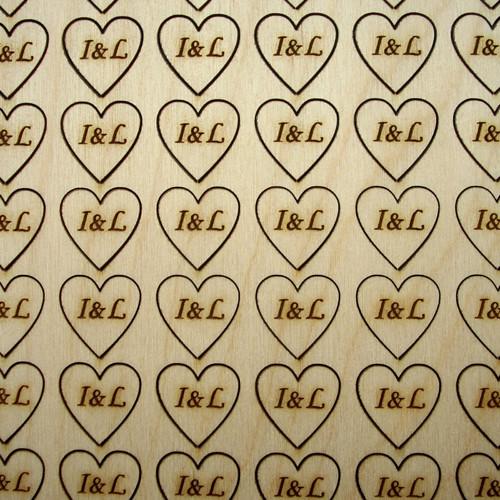 Srdce 1,5 cm s monogramem na přání...KV012
