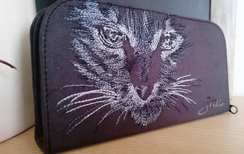 Zipová peněženka Kočka ve tmě I.