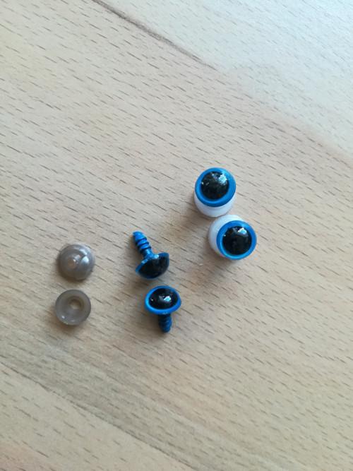 Bezpečnostní oči modré 10 mm (5 párů)