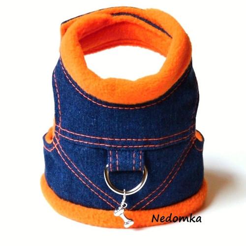 Džínové kšíry Modro - oranžové - Sleva