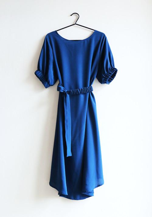 Indigo LUFT ~ hedvábné šaty