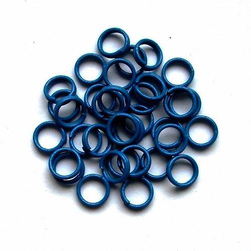 Spojovací kroužky dvojité modré
