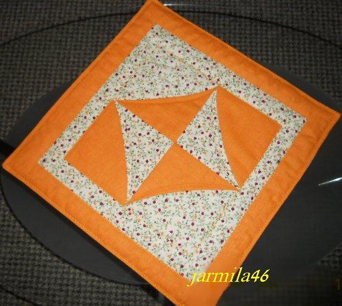 Oranžová  prostírka