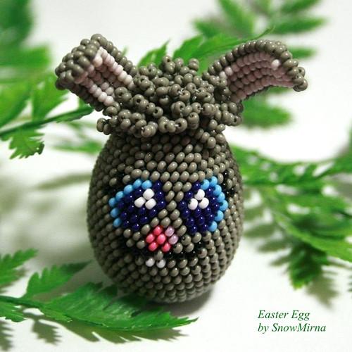 Háčkované vajíčko VZOR - Figurka Králík