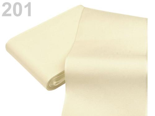 Taftová stuha 72mm (10m) - béžovobílá