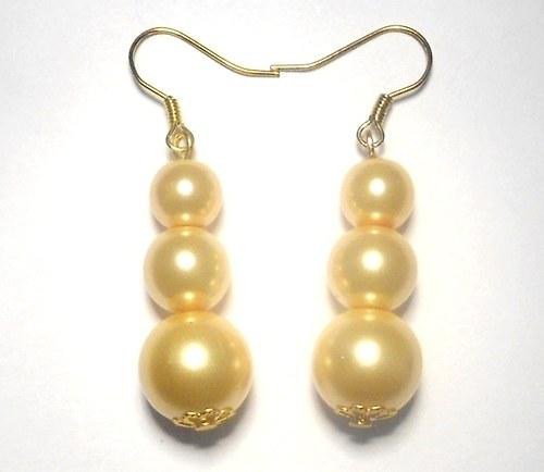 Perly - naušnice žluté