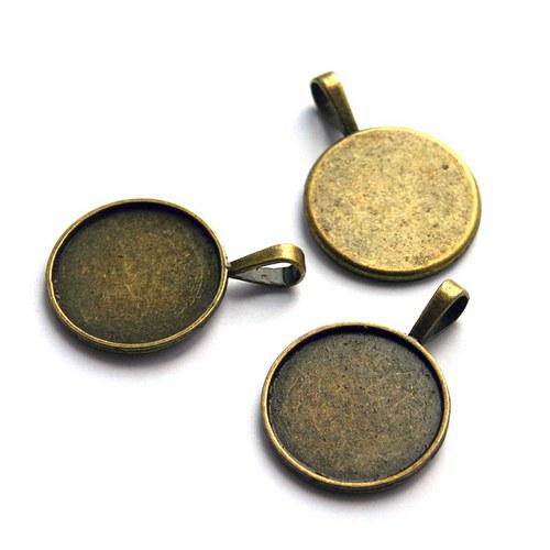 lůžko kulaté bronz
