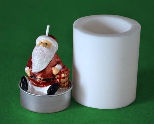 Forma na čaj. svíčku - Mikuláš s dárečkem