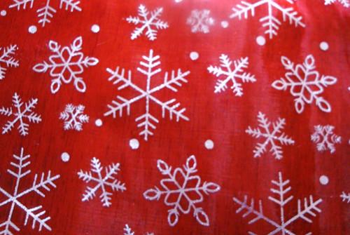 Vánoční organza