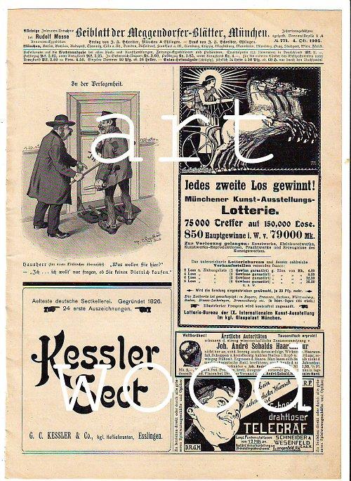 List s dobovou inzercí z roku 1904 - č. 627