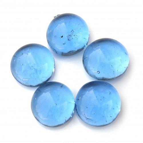 Skleněné pecky modré - 1 kus