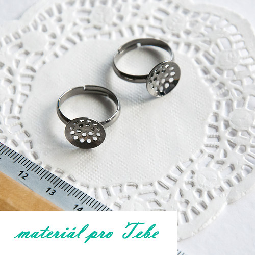 prsten-lůžko-gunmetal - 2ks