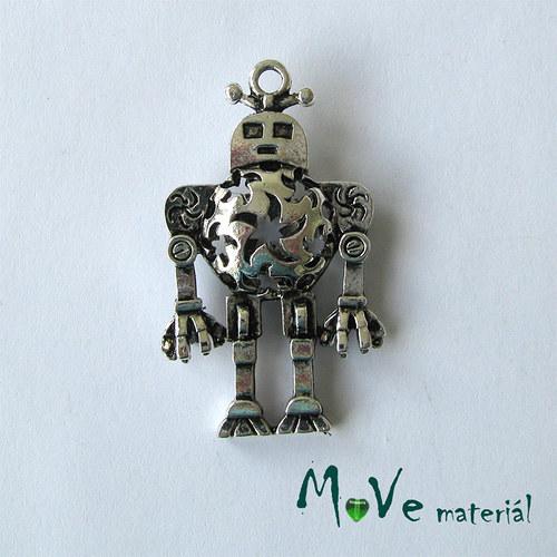 Přívěsek ROBOT, 1ks, bez olova, niklu