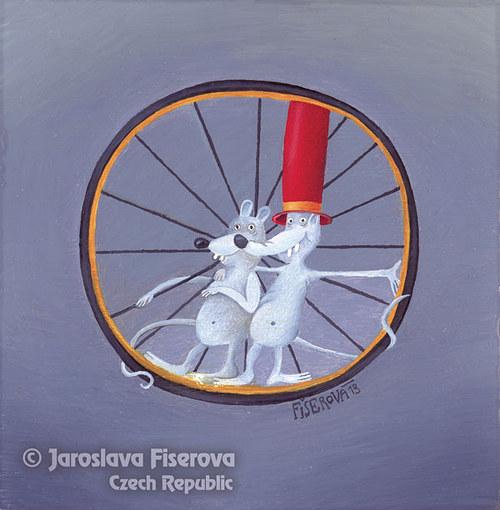 Myši v jednom kole