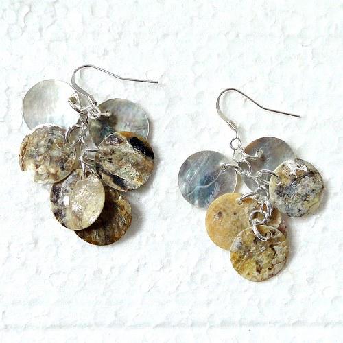 Náušnice - perleť přírodní