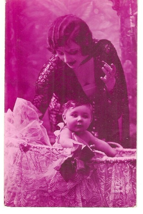 Umělecká pohlednice maminka s dceruškou